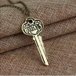 Sherlock 221B Key Pendant...